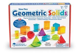Formes géométriques transparentes: Super pour apprendre les formes devant la fenêtre ou dans la boîte lumineuse, dessus, devant, ou juste s'émerveiller devant les couleurs.
