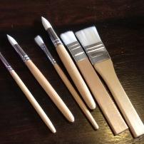 Mini pinceaux MÅLA: Toujours chez notre ami suédois, des p'tits pinceaux faits pour des Minis mains. Yé!