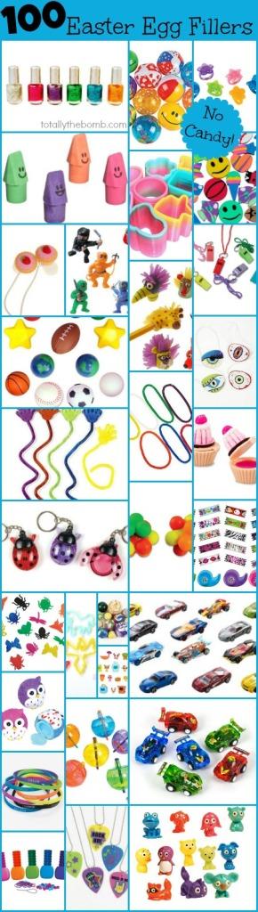 Idées de choses à mettre dans les cocos (en plastique) de vos enfants.