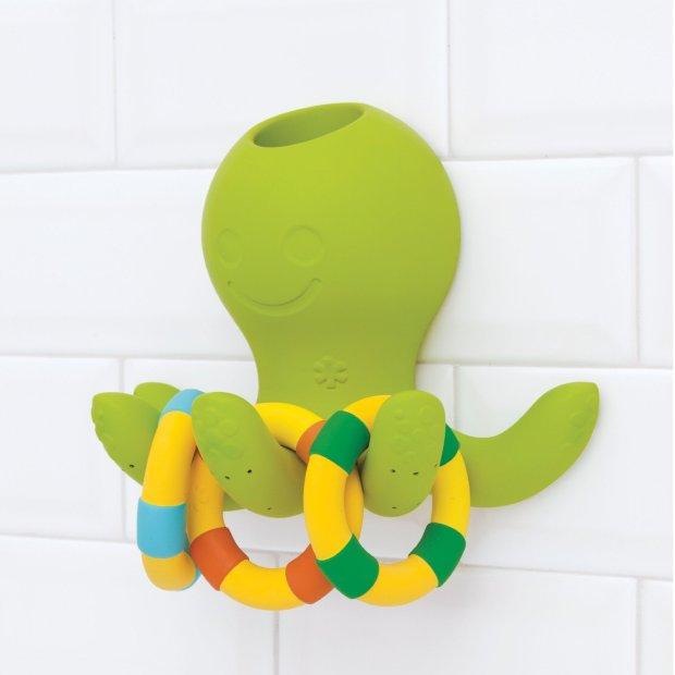 La pieuvre qui fait une douche d'eau sortant des tentacules lorsqu'on y verse de l'eau, et qui fait aussi jeu d'anneaux!