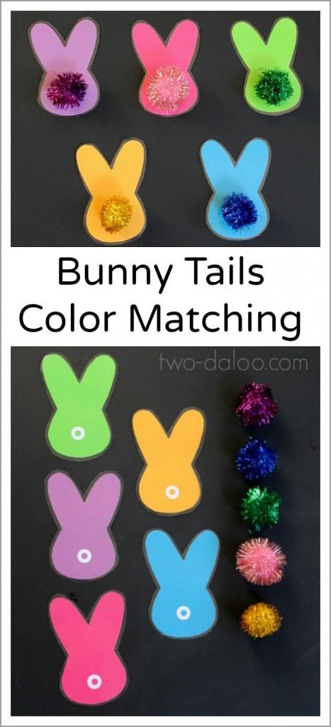"""Association de couleurs avec des """"queues"""" de lapin!"""