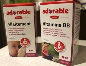 Galactogogue naturel (capsules) et vitamine pré/périnatale (liquide)