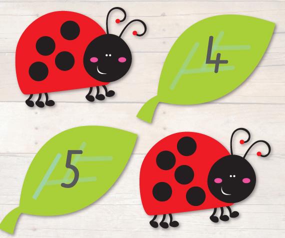 """Association nombre de picots-nombre sur la feuille, Toujours du blog http://www.busylittlebugs.com.au/ (allez visiter la section """"Freebies"""", OMG)."""