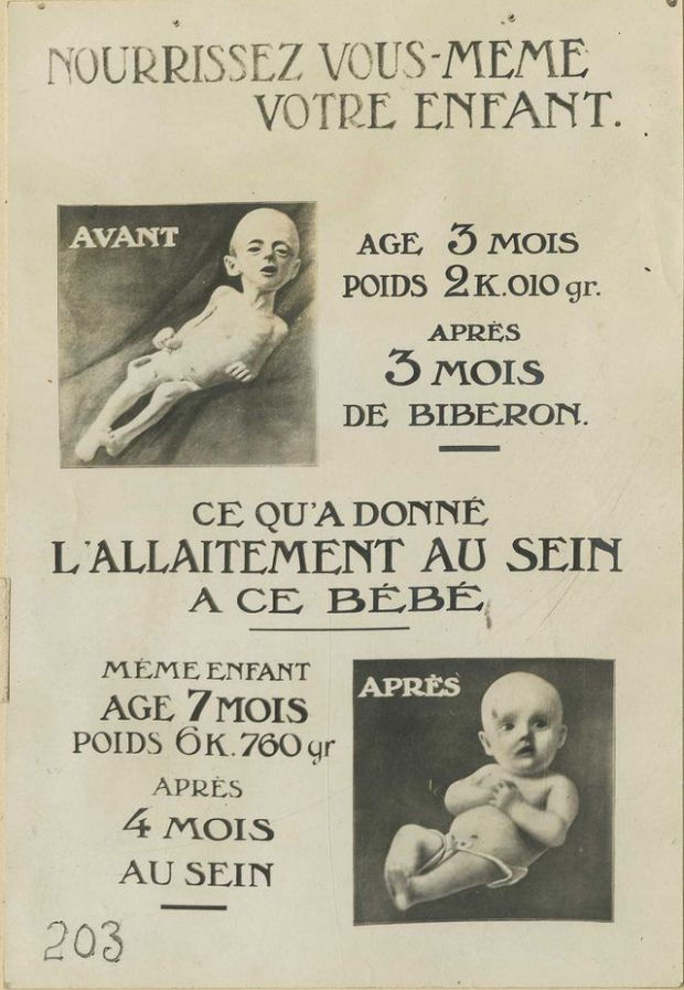 "Affiche (1ère guerre mondiale) encourageant l'allaitement maternel Otis Historical Archives of ""National Museum of Health & Medicine"" (OTIS Archive 1)"