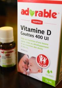 Vitamine D liquide, 400 UI