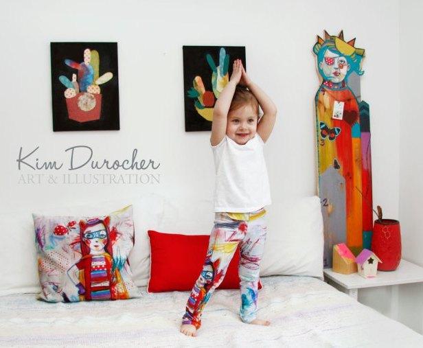 Les plus jolis leggings du monde avec plusieurs autres oeuvres de l'artiste