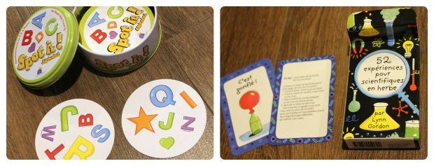Jeu Spot It! version junior, et petit paquet de cartes avec des activités cool et scientifiques qui captiveront les petits et les grands, promis!