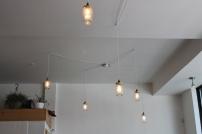 Les luminaires trop cutes: pots Masson, fouets...