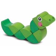 Petit serpent en bois à manipuler de Melissa & Doug, 11,99$ sur Well.ca Lien: https://well.ca/products/melissa-doug-wiggling-worm_87799.html
