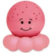 Veilleuse qui projette des étoiles de Cloud B. Y'en a aussi d'autres plus grosses et en peluche, ce que j'aime de ce modèle c'est que la boule est une partie détachable: on peut donc la traîner avec nous. 24,99$ sur Well.ca Lien: https://well.ca/products/cloud-b-twinkles-to-go-octo-pink_87128.html